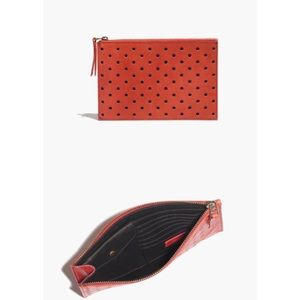 Madewell Bags - Madewell Holepunch Clutch Red!